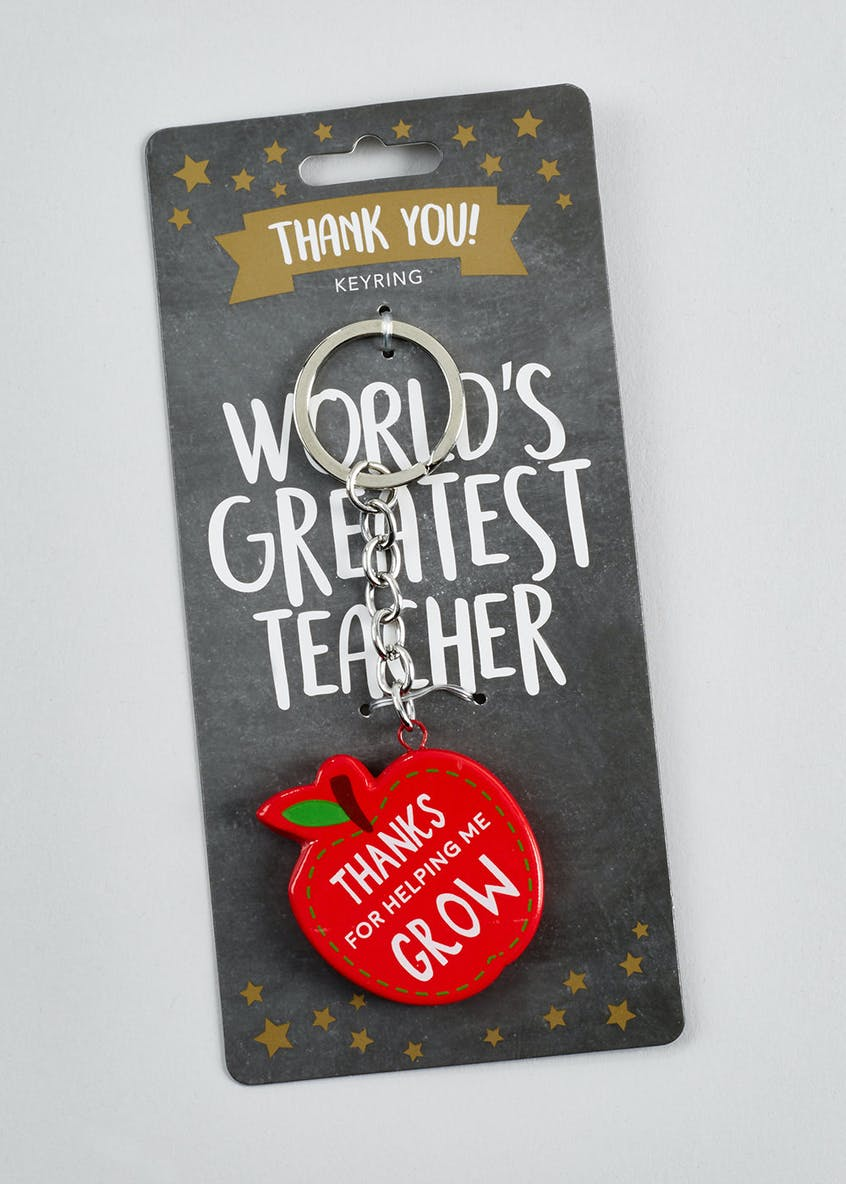 Thanks Teacher Apple Keyring