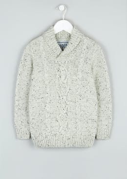 Boys Shawl Neck Knitted Jumper (4-13yrs)