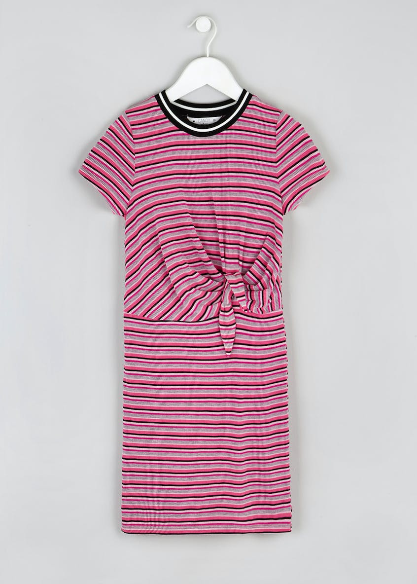 Girls Candy Couture Ribbed Stripe Dress (9-16yrs)