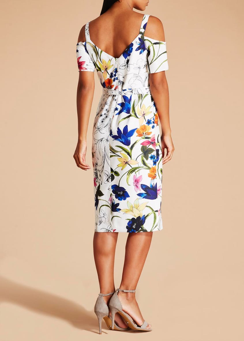 Soon St Lucia Floral Shift Dress - White