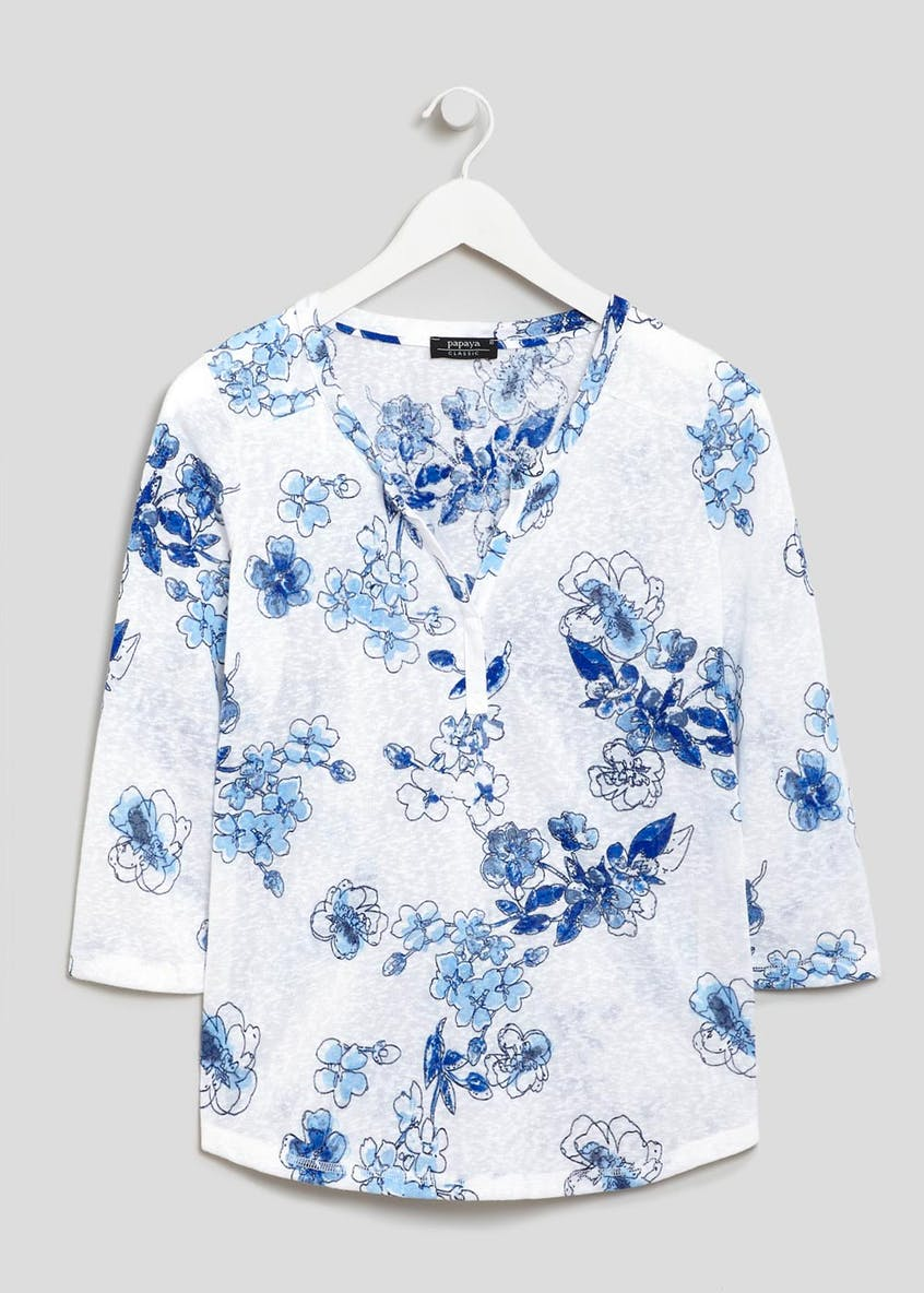 Floral Snit Henley Top