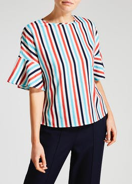 Stripe Bell Sleeve Box Top