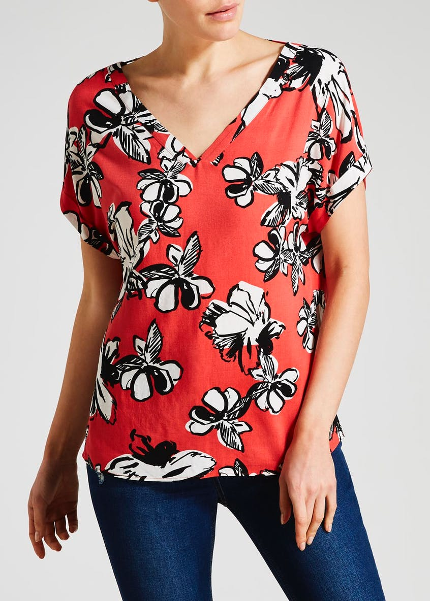 Floral Viscose Box Top