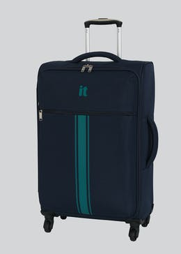 IT Luggage Stripe 4 Wheel Suitcase