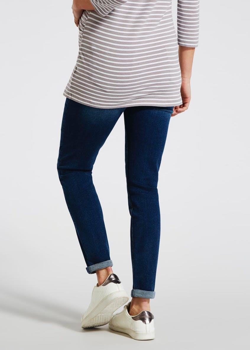 Maternity Over Bump Distressed Relaxed Skinny Jeans