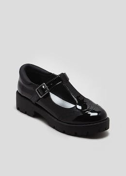 3425758a993d Girls Patent Cleated T-Bar School Shoes (Younger 13-Older 7)