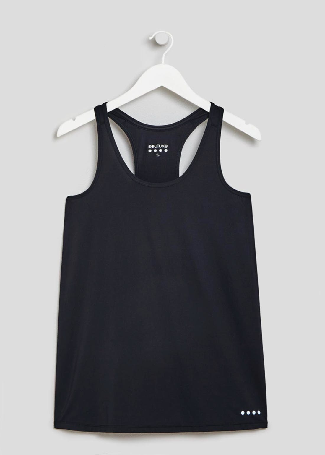 Souluxe Black Racer Back Swing Gym Vest