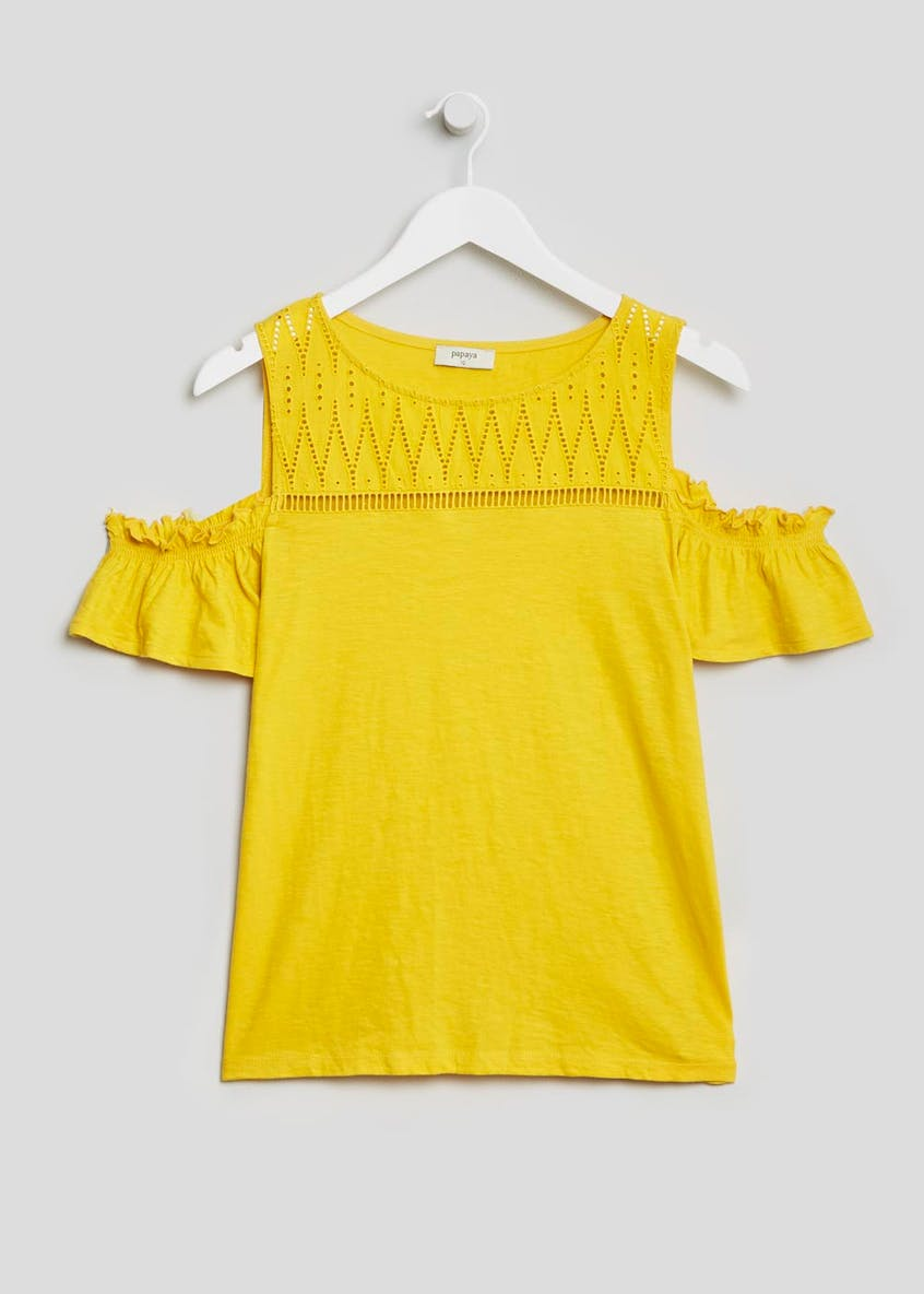 Schiffley Yoke Cold Shoulder T-Shirt