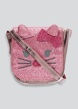 Girls Glitter Cat Cross-Body Bag