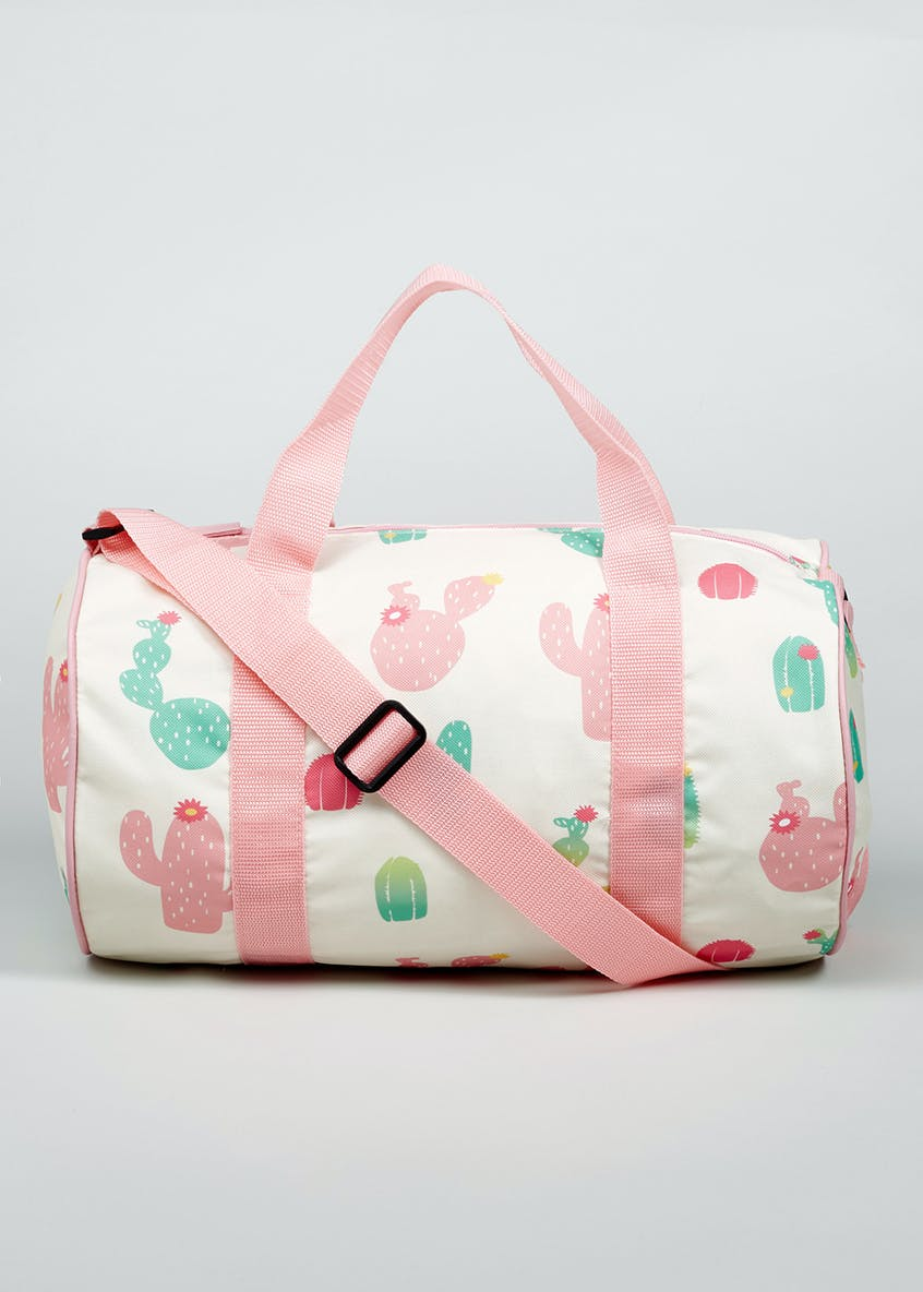 Girls Cactus Barrel Bag