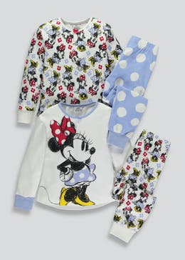 Girls 2 Pack Disney Minnie Mouse Pyjamas (3mths-6yrs)