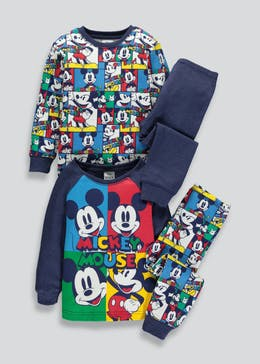 Kids 2 Pack Mickey Mouse Pyjamas (3mths-5yrs)