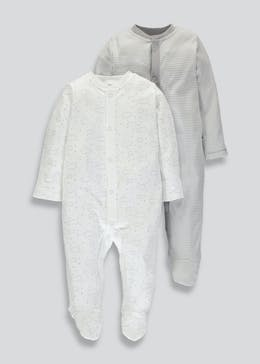 Unisex 2 Pack Sleepsuits (Tiny Baby-9mths)