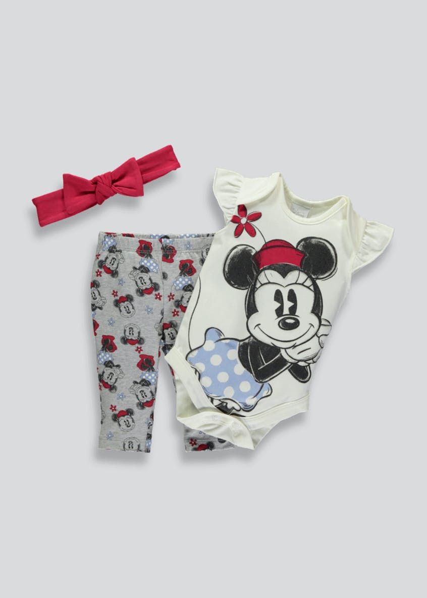 Unisex Disney Minnie Mouse 3 Piece Set (Newborn-12mths)