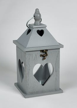 Cut Out Heart Lantern (30cm x 14cm x 14cm)