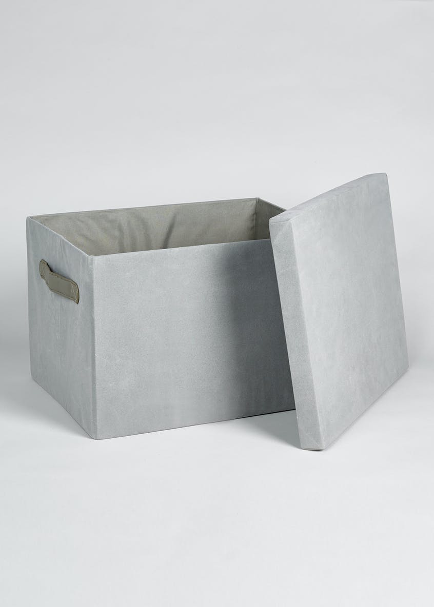 Foldable Faux Suede Storage Box (37cm x 29cm x 24cm)
