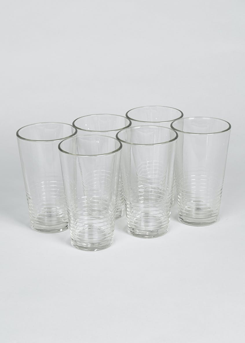 6 Pack Hi Ball Glasses (15cm x 9cm)