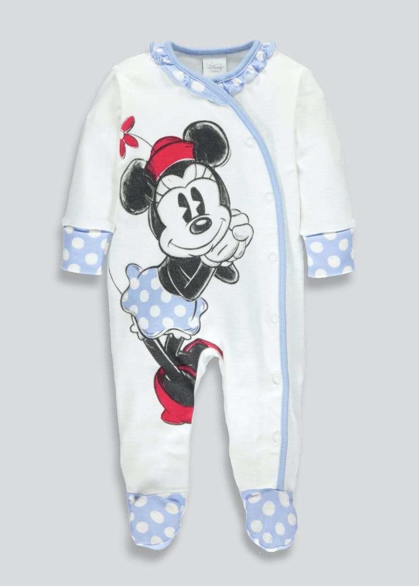 Unisex Minnie Mouse Sleepsuit (Newborn-12mths)