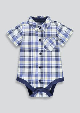 Boys Short Sleeve Check Bodysuit (Newborn-18mths)