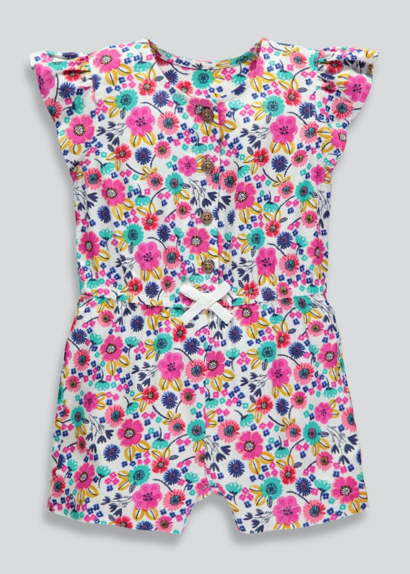 Girls Floral Playsuit (3mths-6yrs)