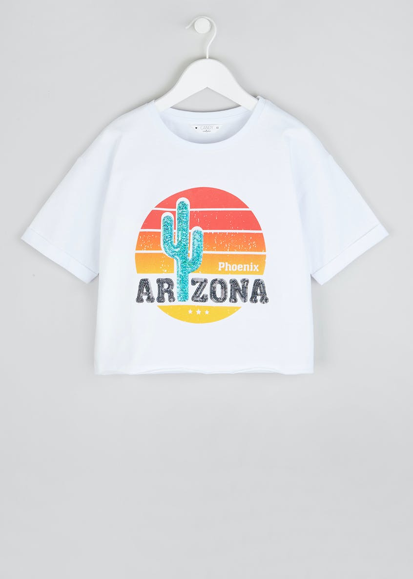 Girls Candy Couture Arizona Cropped T-Shirt (9-16yrs)