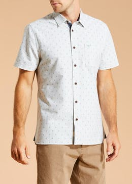 Morley Short Sleeve Printed Oxford Shirt