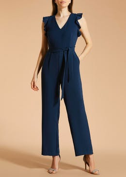 FWM Frill Sleeve Wide Leg Jumpsuit