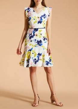 FWM Floral Frill Tea Dress