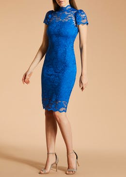 FWM High Neck Lace Pencil Dress