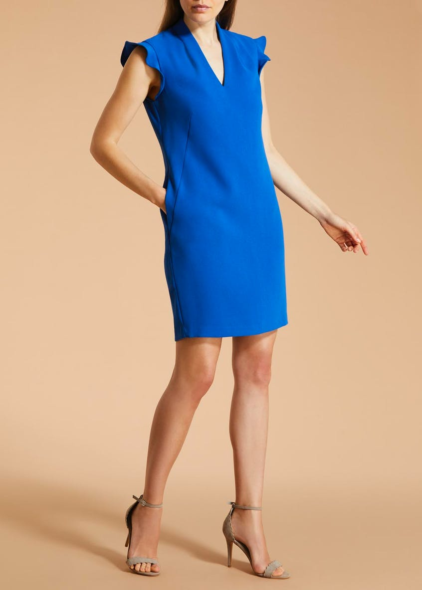 FWM Frill Sleeve Tunic Dress - Blue
