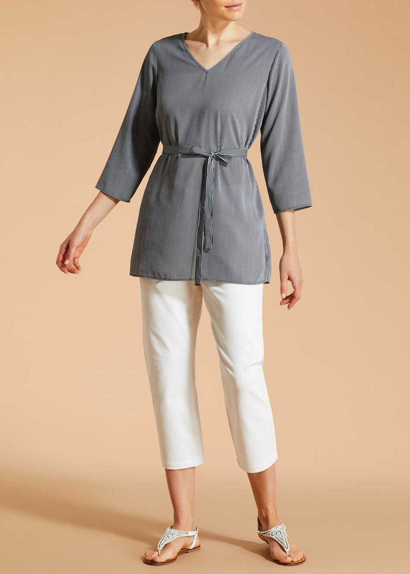 Soon Belted Tunic Blouse