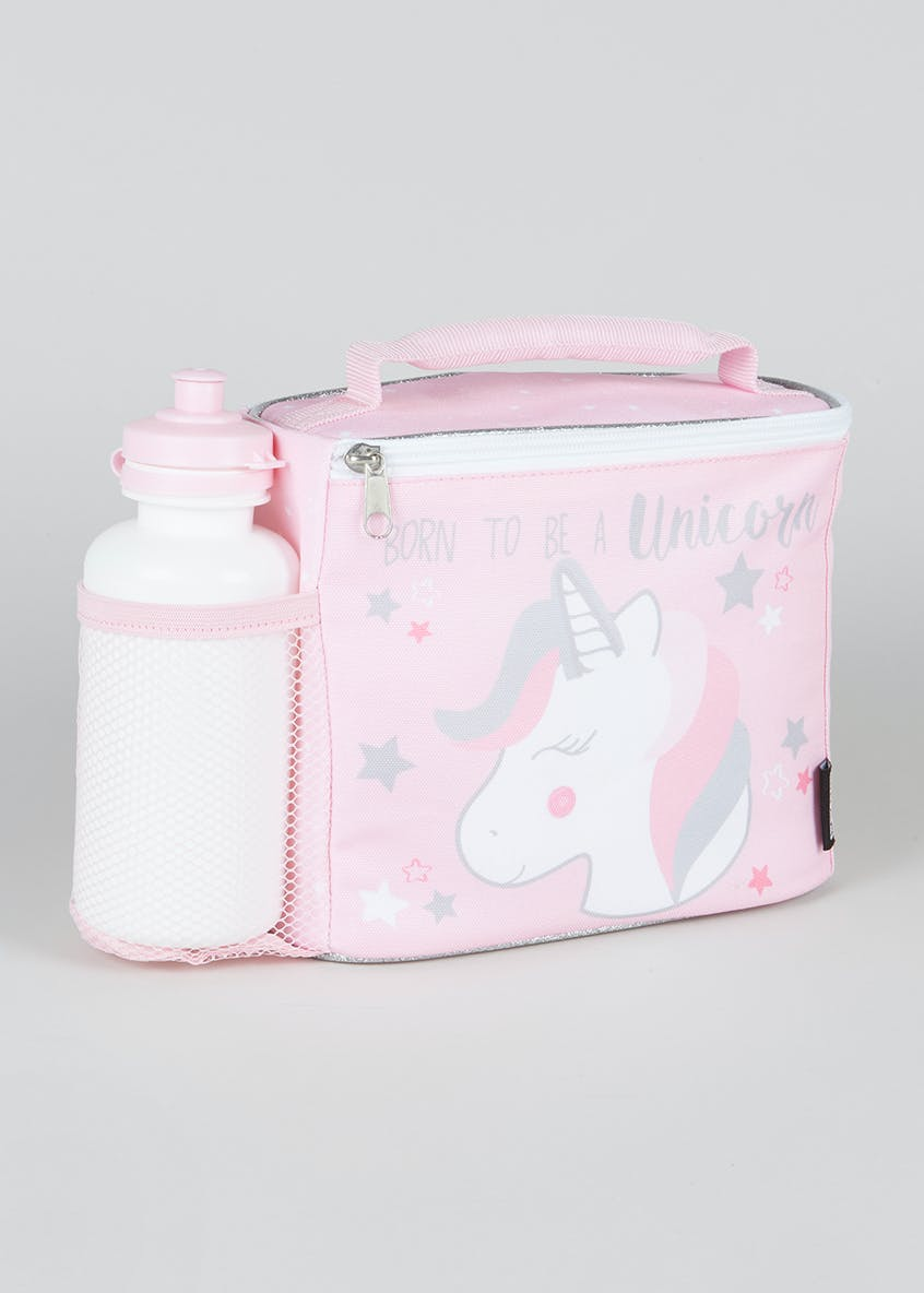 Unicorn Lunch Bag & Water Bottle (22cm x 18cm x 10cm)