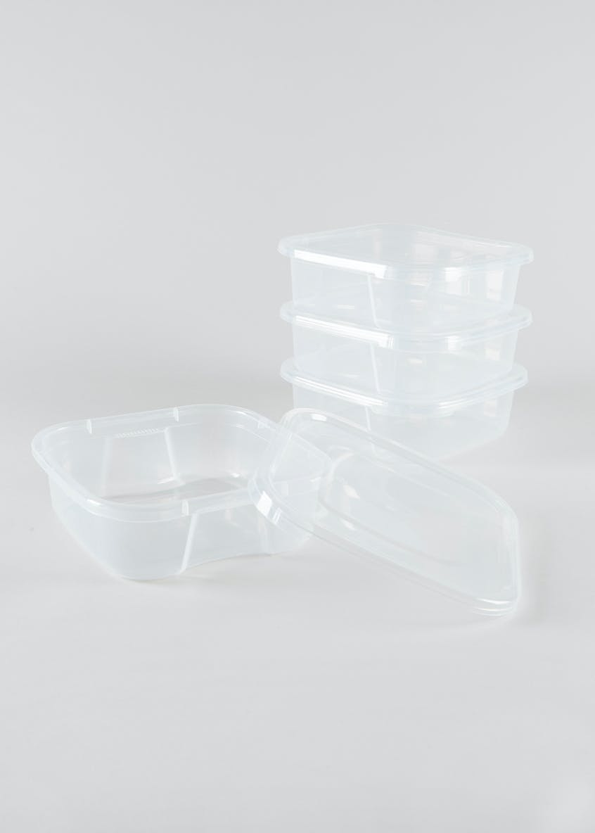 4 Pack 1.25L Square Food Tubs