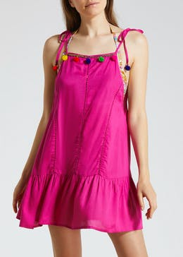 Pom Pom Swing Beach Dress