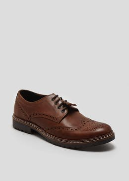 Real Leather Cleated Gibson Brogues