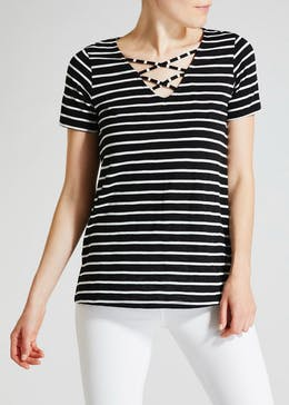 Lattice Stripe T-Shirt