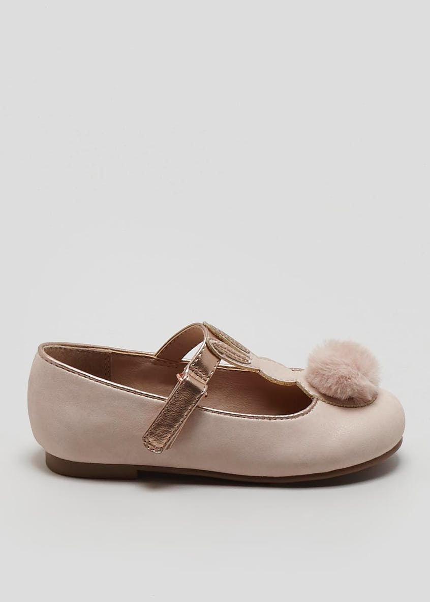 Girls Bunny T-Bar Ballet Shoes (Younger 4-12)