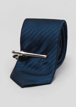Skinny Herringbone Tie & Removable Clip