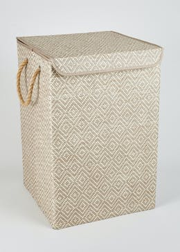 Geometric Collapsible Laundry Bin (53cm x 35cm x 35cm)