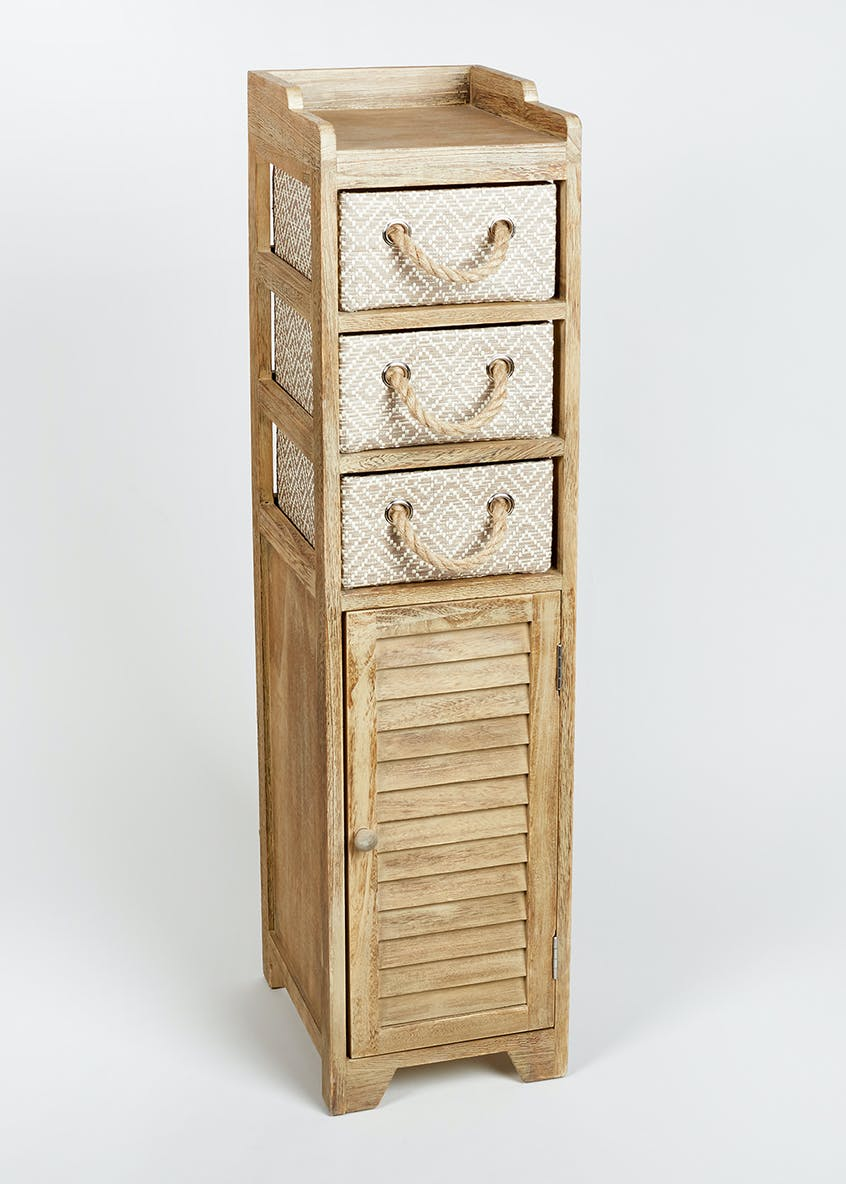 Wooden Storage Tower (103cm x 29cm x 25cm)