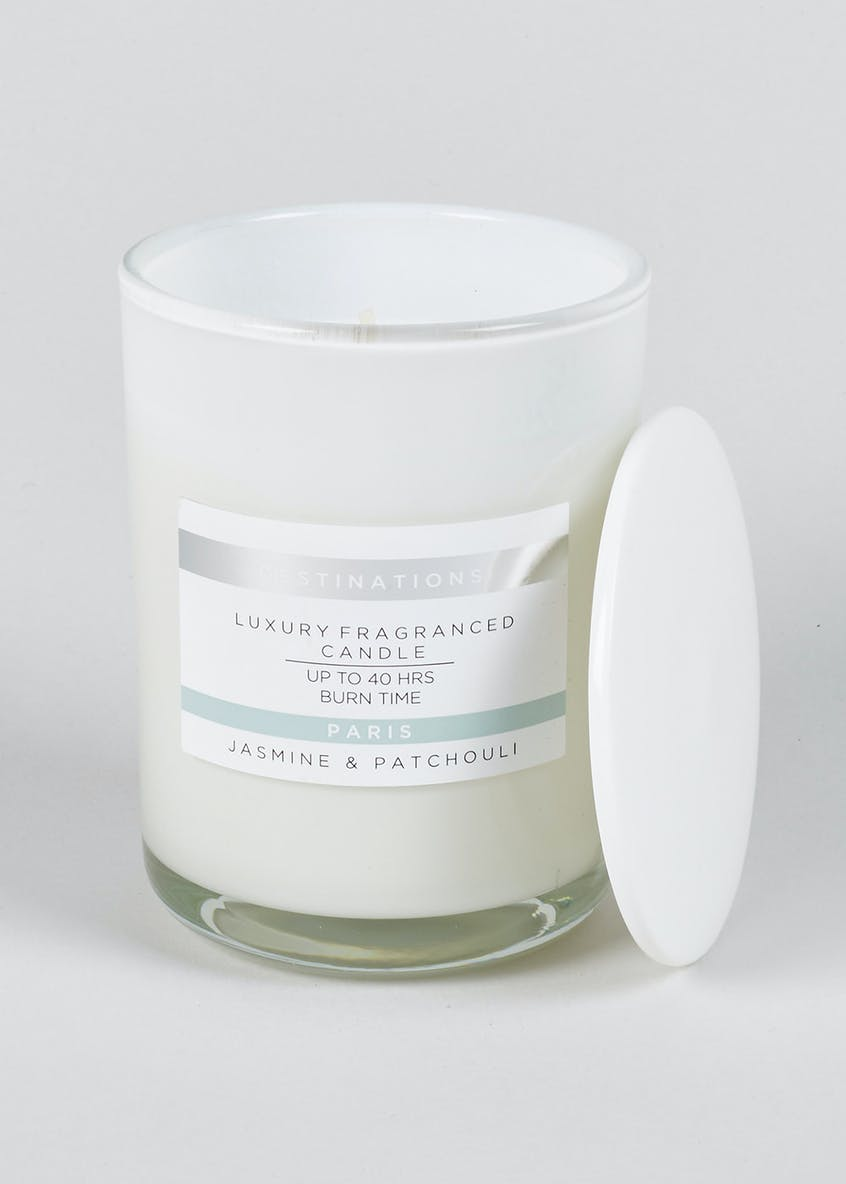 Jasmine & Patchouli Paris Destinations Candle (11cm x 8cm)