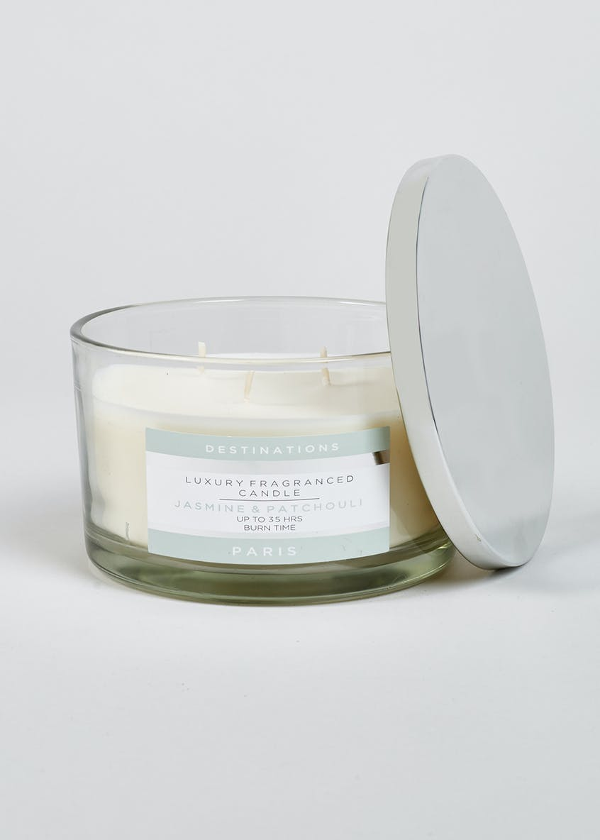 Jasmine & Patchouli Paris Destinations 3 Wick Candle (13cm x 8cm)