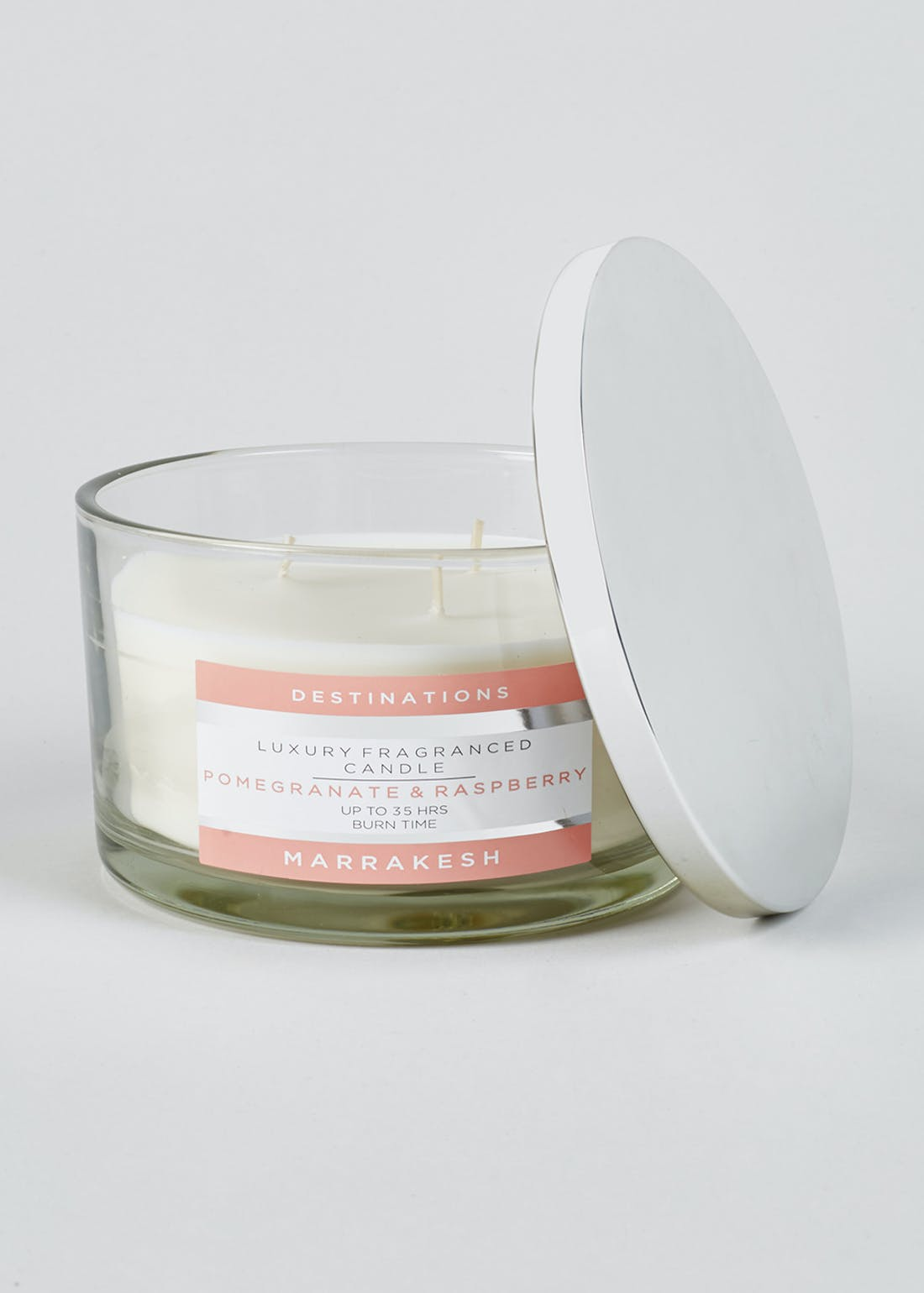 Pomegranate & Raspberry Marrakesh Destinations 3 Wick Candle (13cm x 8cm)