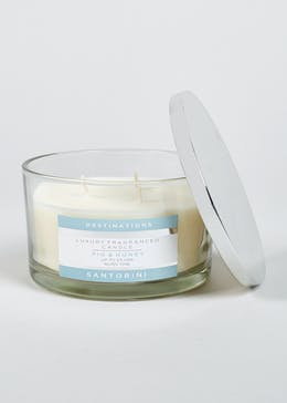 Fig & Honey Santorini Destinations 3 Wick Candle (13cm x 8cm)