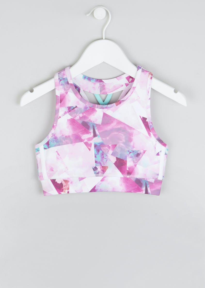Girls Souluxe Abstract Flower Crop Top (4-13yrs)