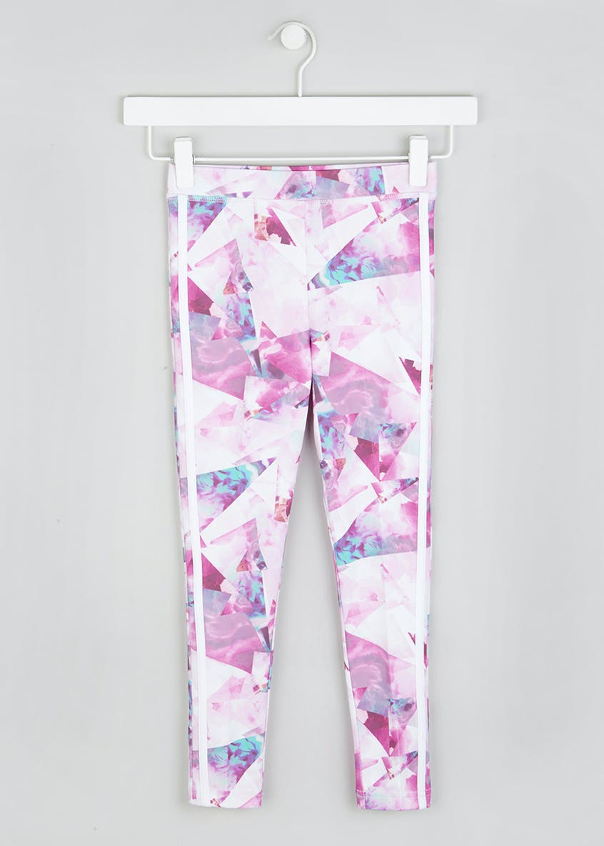 Girls Souluxe Abstract Flower Sports Leggings (4-13yrs)