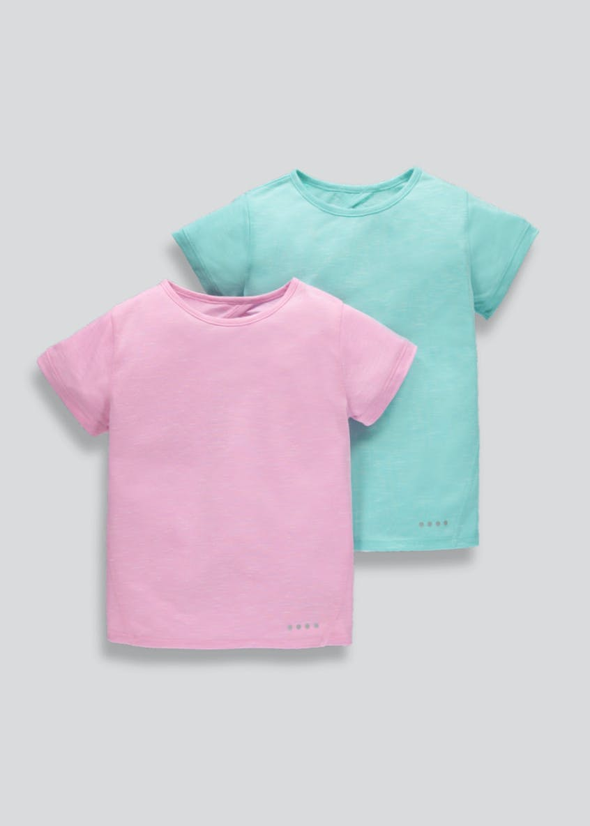 Girls Souluxe 2 Pack Cross Back Sports T-Shirts (4-13yrs)