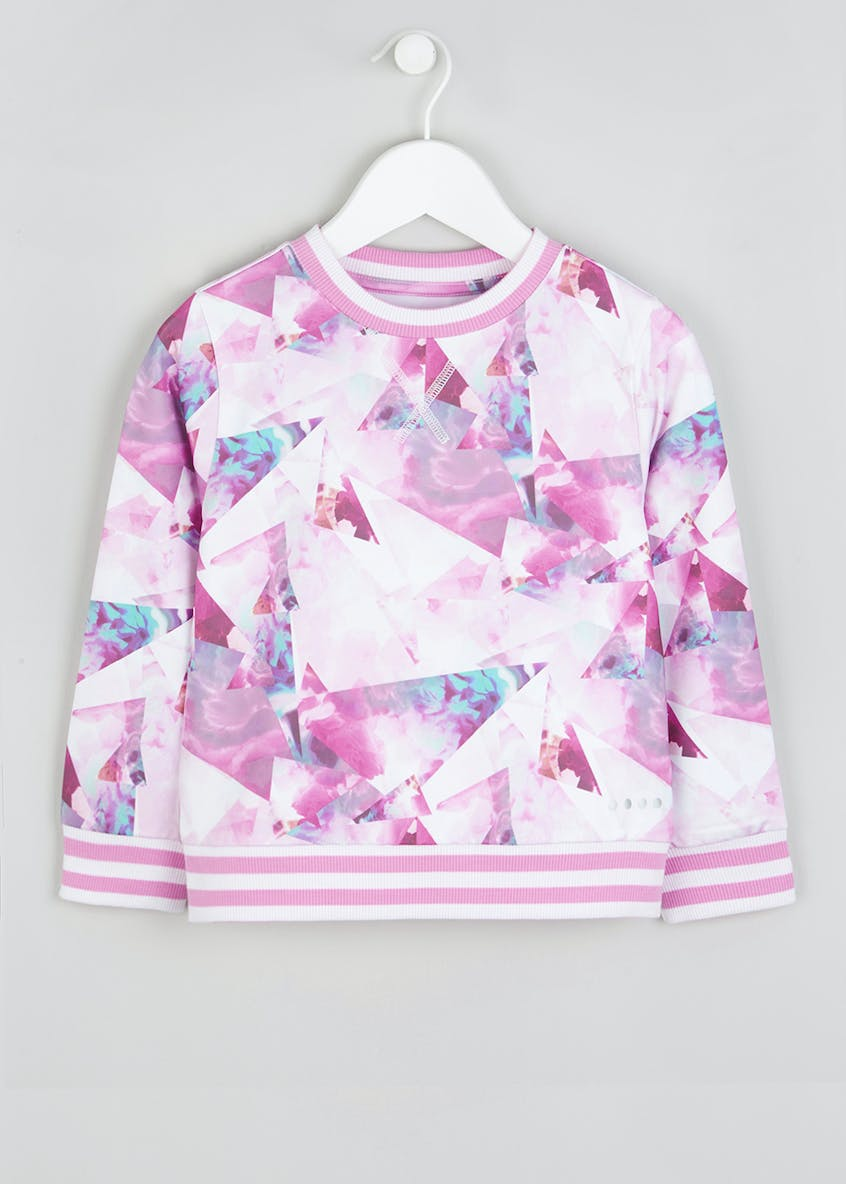 Girls Souluxe Abstract Flower Sweatshirt (4-13yrs)