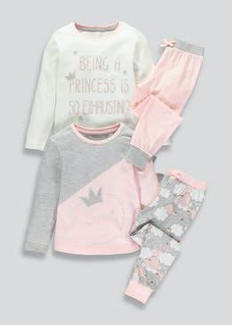 Girls 2 Pack Pyjamas (4-13yrs)