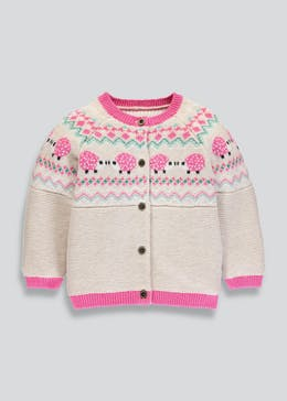 Girls Fair Isle Hedgehog Cardigan (3mths-6yrs)